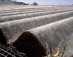 Picture of non-friable asbestos